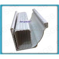 Plastic rain water gutter and downpipes black and white color