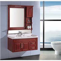 Classic wooden bathroom cabinet with light OGX079