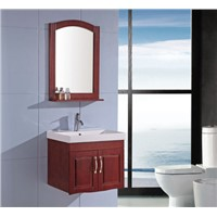 Classic style solid wood bathroom vanity with mirror OGX083