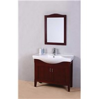 Classic style solid wood bathroom vanity with mirror OGX2027
