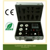 Portable Aluminum LED Demo Case with Built in multi-function AC Meter