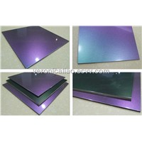 Chameleon PVDF Aluminum Composite Panel For Decoration