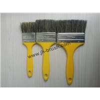 Chinese natural bristle paint brush, plastic handle brazil market paint brush