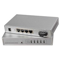 4-Port 10/100Base-Tx and 1-Port 100Base-Fx Fiber Switch