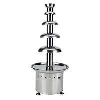 5tiers commercial chocolate fountain/chocolate fondue machine/CF44P FOUR STAR