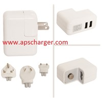 Mini Dual USB Wall AC Multi Adapter Pack With AU EU US UK Plug