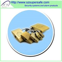 High polished Brass padlock/padlocks/Door locks/cabinet locks Rigid plastic package