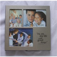 metal picture frame for 3 pictures