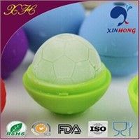 promotion gift football shape silicone ice ball tray