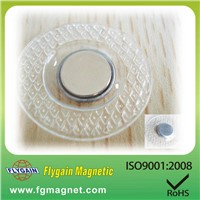 pvc disc magnet for packing box/bags