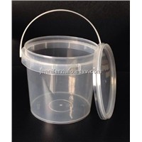 2L Clear Plastic  Bucket with Tamper Proof lid