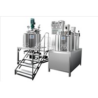 Fixed vacuum homogenizing emulsifier