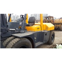 Used Tcm forklift  10t cheap for sale original japan forklift TCM