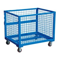 Metal turnover basket, storage cage
