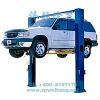 lifting machine Two post double-cylinder clear floor hydraulic lift/low ceiling car lift
