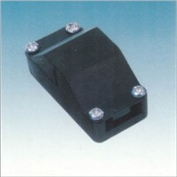 two seats of black plastic junction box with ROHS certificate for lamps