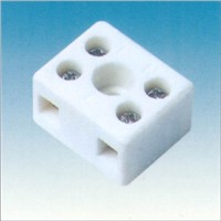 two-three ways of white ceramic terminal blocks in VDE certificate for lamps or machines