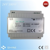 DR-100 100W din rail 220V 24v led driver power supply with two years warranty