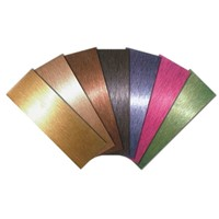 PVD coated colored stainless steel decorative plate