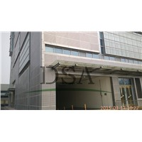 Metal Fabric Pattern Curtain Wall aluminum perforated metal mesh