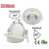 35W adjustable COB LED downlight 2300-2900lm