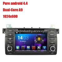 Android4.4 car dvd player with 1024 x 600 resolution for BMW E46 with mirror link and DVR
