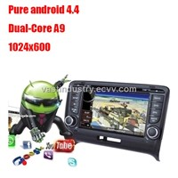 Android4.4 2 din car dvd player with 1024 x 600 resolution for audi tt  with mirror link DVR a