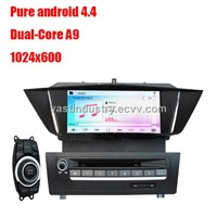 Android4.4 car dvd player with 1024 * 600 resolution for BMW X1 E84  with mirror link DVR