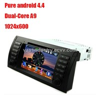 Android4.4 car dvd player with 1024 x 600 resolution for BMW 5-e39 BMW X5-E53 with mirror link DVR