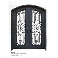 Wrought Iron Double Doors HT202B