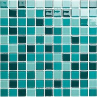 GL062 aquamarine mix crystal mosaic bathroom mosaic tile