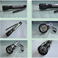 aluminium alloy solar-powered flashlight