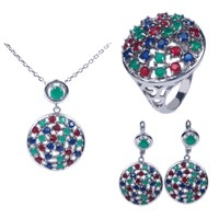 micro pave setting beautiful cz jewelry set