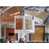 Direct factory price composite building material faux stone plastic composite wall panel