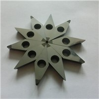PCD cutting insert for processing high silicon alloy