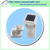 Solar PIR Detector/Solar Type/Wireless Outdoor Dual PIR Wall Mounting Detector