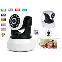GT VIEW P2P Wireless Pan Tilt IP Camera With TF/Micro SD Memory Card Slot Free Iphone Android App