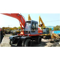 Used Hitachi Ex100wd Wheel Excavator