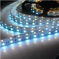 New Design Double Line LED Strip Light 60pcs White 3528 LED/Meter, 60pcs RGB 5050 LED/Meter Two Row