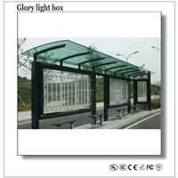 Advertising Scrolling Light Box Bus Stop Shelter