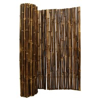 Black Bamboo Fence Roll