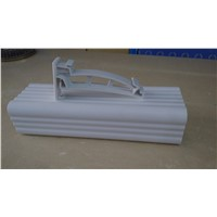 China plastic rain gutter for square roof gutter components