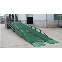 Hydraulic container truck dock leveler for forklift