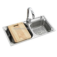 Best kitchen sink, double bowls, profession design, Model No.: 8143AD