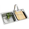 Double Bowls Stainless Steel Kitchen Sink with Good design(Model no.:8143AX)
