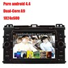 Android 4.4 car radio bluetooth for toyota prado with mirror link capacitive screen 1024x600