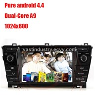 Android 4.4 car radio dvd for toyota corolla 2014 with mirror link capacitive screen 1024x600