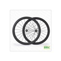 High TG 50mm clincher Carbon road bike wheelsets 23mm width powerway hubs