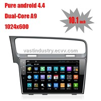 "10.1"" Android 4.4 car audio for VW golf 7 with 1024 * 600 resolution and DVR camera input"