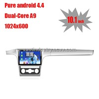 "10.1"" Android 4.4 car navigation for vw passat  with 1024 * 600 resolution and DVR camera input"